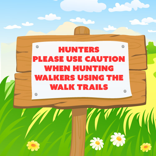 Walkers using the trails